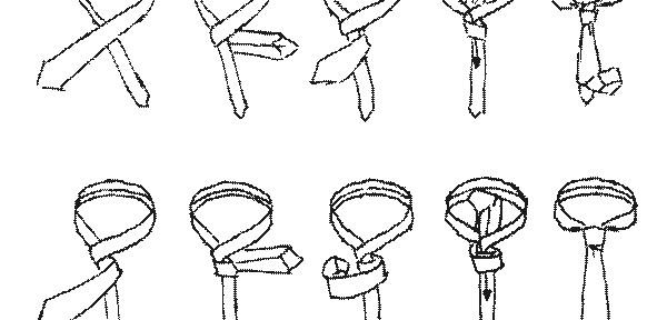 Krawattenknoten Four-in-hand