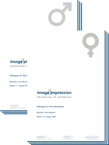 Stilmappen für die Stilberatung von image&impression - www.imageandimpression.de